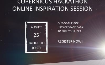 Copernicus Hackathon Inspiration Event – ONLINE (August 25)
